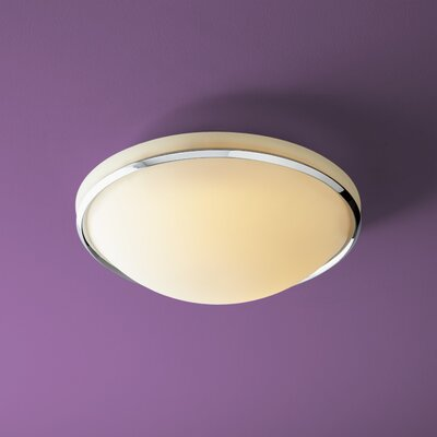 Saturna 2-Light Flush Mount Finish: Polished Chrome