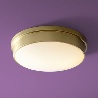Theory 2-Light Flush Mount Finish: Satin Brass