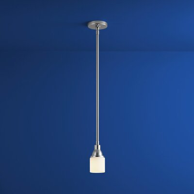 Elements 1-Light Mini Pendant Finish: Satin Nickel