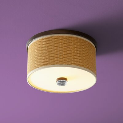 Echo 2-Lights Flush Mount Finish: Oiled Bronze, Size: 7.75 H x 14.5 W x 14.5 D