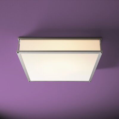 Modulo 2-Lights Flush Mount Size: 4.75 H x 24 W x 24 D