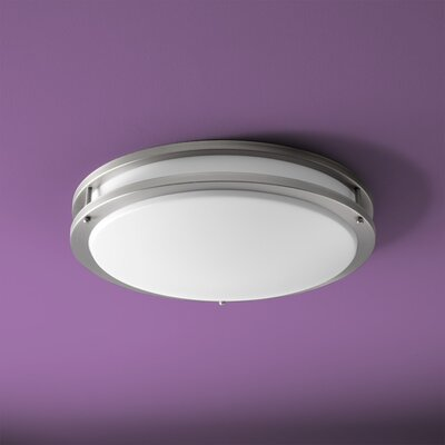 Oracle 1-Light Flush Mount Finish: Satin Nickel