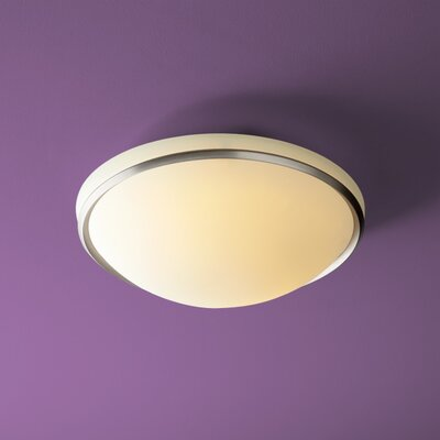 Saturna 2-Lights Flush Mount Finish: Satin Nickel
