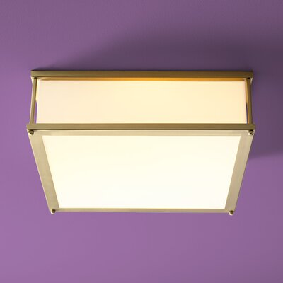 Modulo 2-Light Flush Mount Finish: Satin Brass