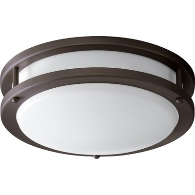 Oracle 1-Light Flush Mount Finish: Oiled Bronze, Size: 3.5 H x 10.5 W x 10.5 D