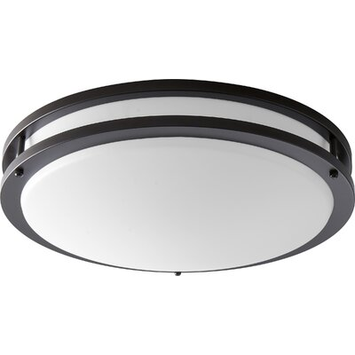 Oracle 1-Light Flush Mount Finish: Oiled Bronze, Size: 4.25 H x 17.75 W x 17.75 D