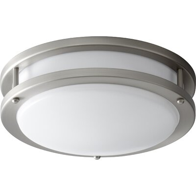 Oracle 1-Light Flush Mount Finish: Satin Nickel, Size: 3.5 H x 10.5 W x 10.5 D