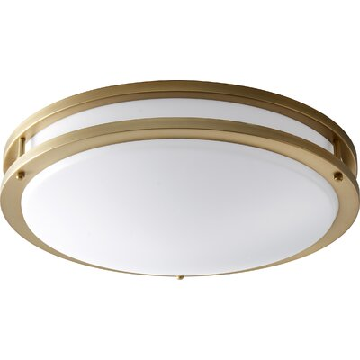 Oracle 2-Light Flush Mount Finish: Aged Brass