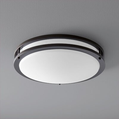 Oracle 2-Light Flush Mount Finish: Oiled Bronze