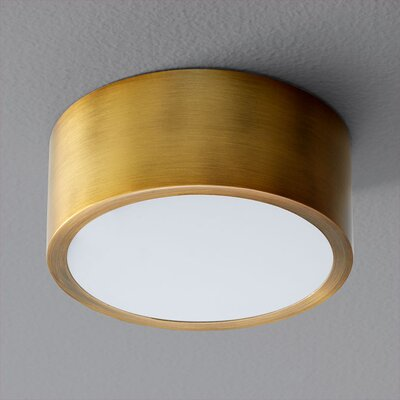 Peepers 1-Light Flush Mount Finish: Aged Brass