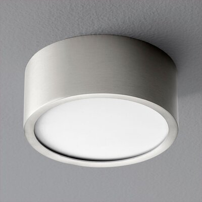 Peepers 1-Light Flush Mount Finish: Satin Nickel
