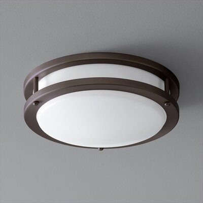 Oracle 1-Light Flush Mount Finish: Oiled Bronze, Size: 4.25