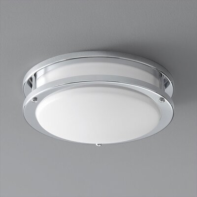 Oracle 1-Light Flush Mount Finish: Polished Chrome, Size: 3.5 H x 10.5 W x 10.5 D