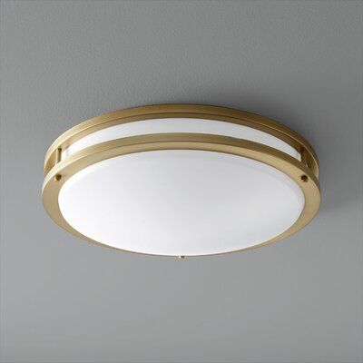 Oracle 1-Light Flush Mount Finish: Aged Brass, Size: 4.25 H x 17.75 W x 17.75 D