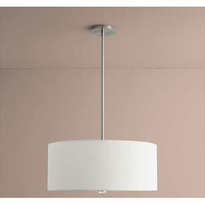 Echo 3-Light Drum Pendant Size: 10.63 H x 24 W x 24 D