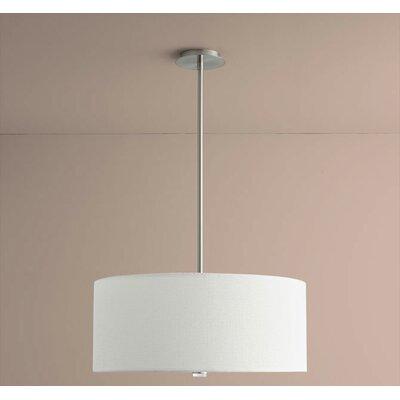 Echo 3-Light Drum Pendant Size: 10.63 H x 24 W x 24 D