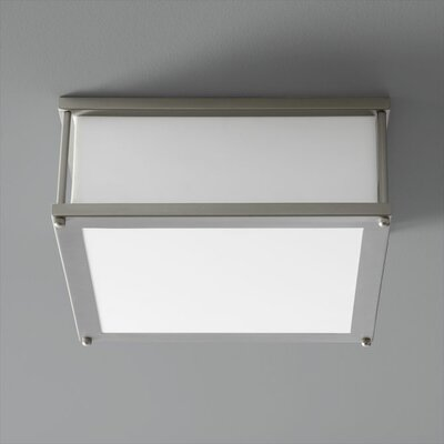 Modulo 1-Light Flush Mount Finish: Satin Nickel