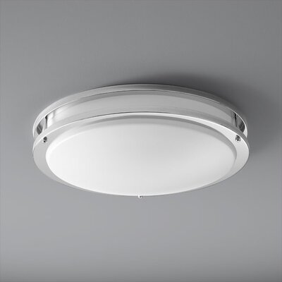 Oracle 2-Lights Flush Mount Finish: Polished Chrome