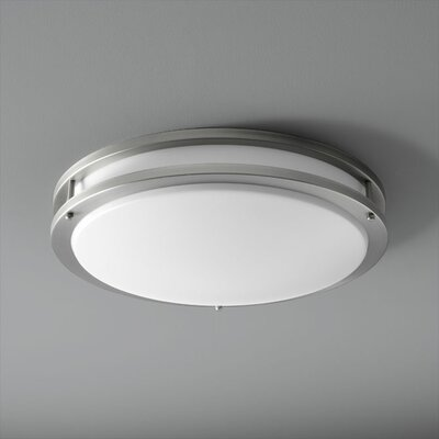 Oracle 2-Lights Flush Mount Finish: Satin Nickel