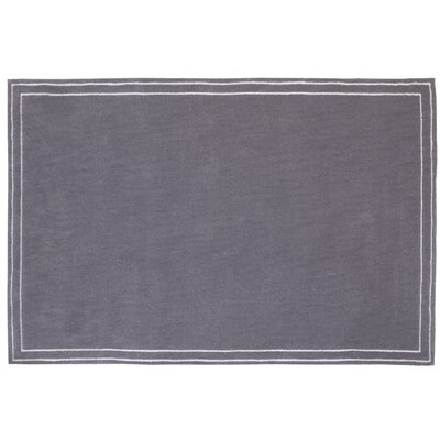 Plush Border Gray Area Rug
