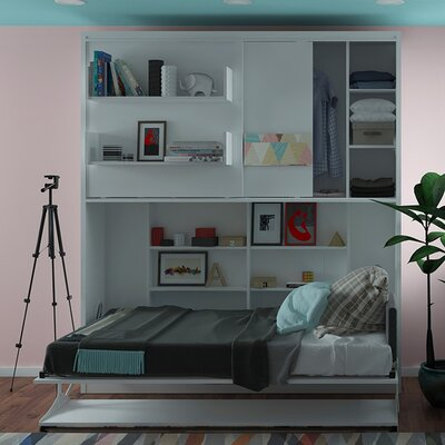 Geddes Twin Murphy Bed Color: Gloss White