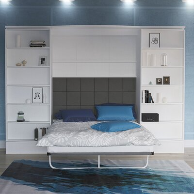 Queen Storage Murphy Bed Finish: Gloss White