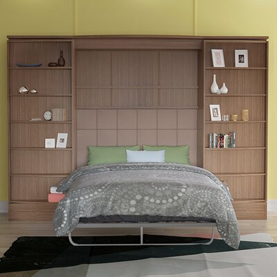 Genevieve Queen Storage Murphy Bed Color: Teak