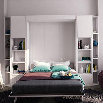 Gautreaux Queen Murphy Bed Color: Gloss White