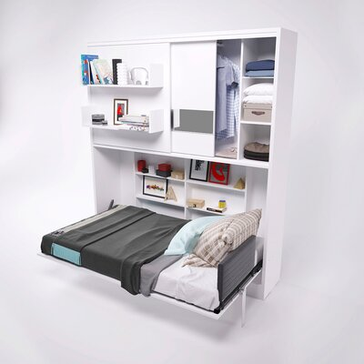 Parete Letto Wall Twin Murphy Bed Finish: Gloss White