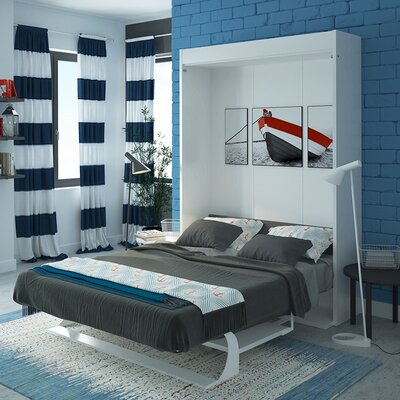Gavin Multimo Queen Murphy Bed Color: Gloss White