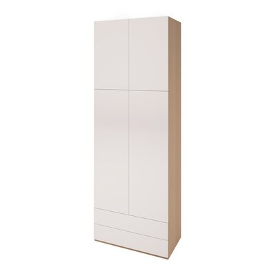 Genevie Multimo Armoire Color: White/Wood