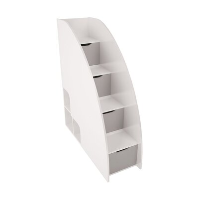 Bel Mondo Steps Bookcase Color: Gloss White and Matte Silver