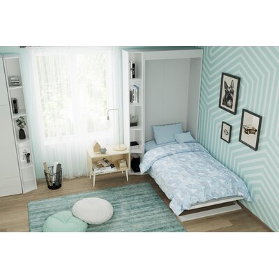 Happel Murphy Bed Color: White/Light Wood