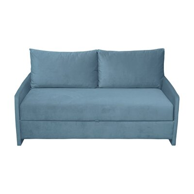 Happel Reclining Sofa Upholstery: Blue