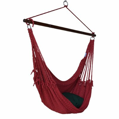 Jumbo Caribbean Polyester Chair Hammock Color: Red