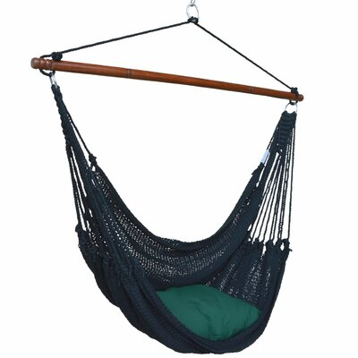 Jumbo Caribbean Polyester Chair Hammock Color: Jet Black