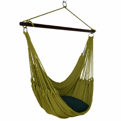 Jumbo Caribbean Polyester Chair Hammock Color: Olive