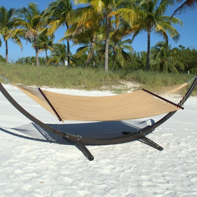 Caribbean Double Polyester Hammock Color: Tan