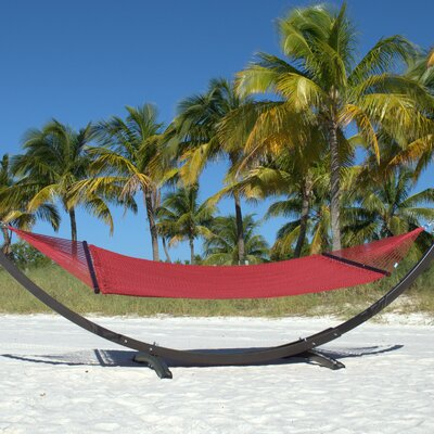 Caribbean Double Polyester Hammock Color: Red