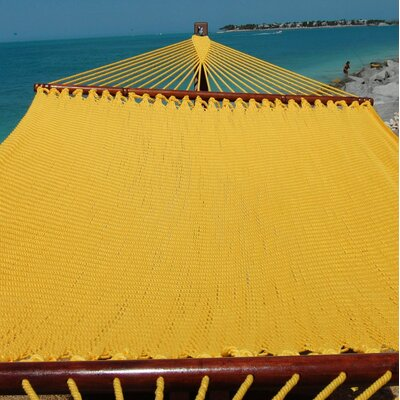 Jumbo Caribbean Polyester Tree Hammock Color: Yellow