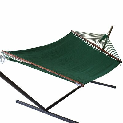 Jumbo Caribbean Polyester Tree Hammock Color: Green