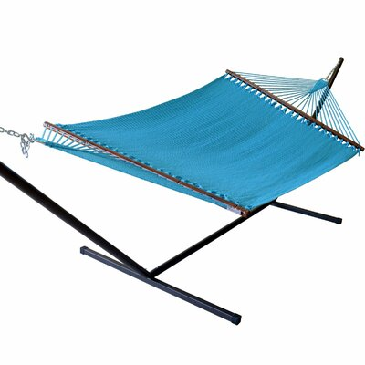 Jumbo Caribbean Polyester Tree Hammock Color: Light Blue
