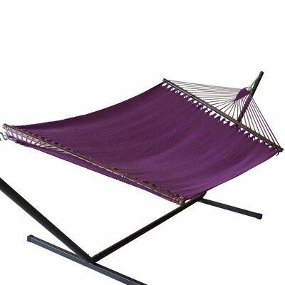 Jumbo Caribbean Polyester Tree Hammock Color: Purple