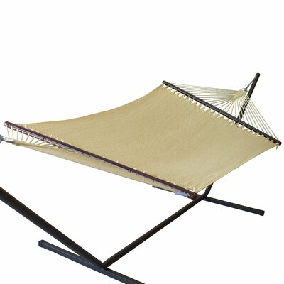 Jumbo Caribbean Polyester Tree Hammock Color: Cream