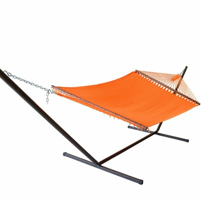 Caribbean Hammock with Stand Color: Orange