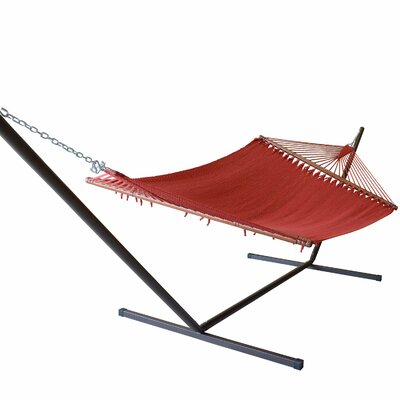 Caribbean Hammock with Stand Color: Red