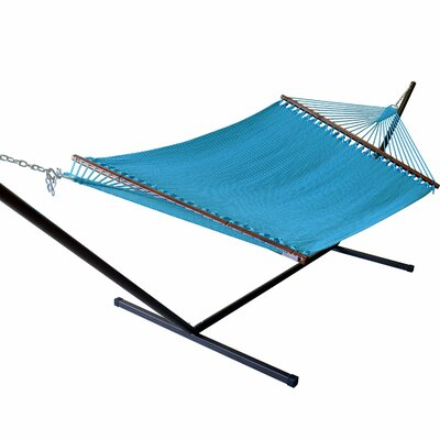 Caribbean Hammock with Stand Color: Light Blue