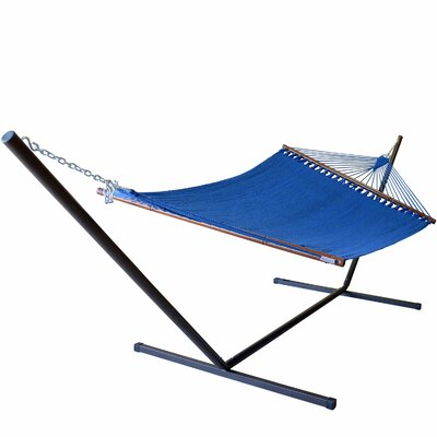 Caribbean Hammock with Stand Color: Dark Blue