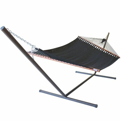 Caribbean Hammock with Stand Color: Black