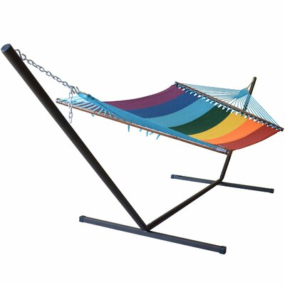Caribbean Hammock with Stand Color: Rainbow
